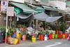 Hong Kong Flower Market, a street with numerous flower shops