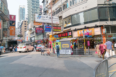 Typically Asian city street  scene