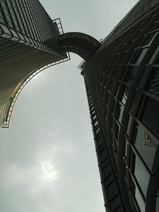 Skywalk bridge at Nina Tower.