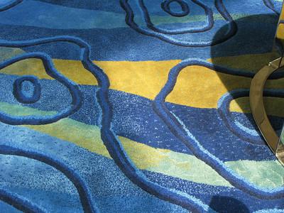 Carpet detail at the HK Marriot.