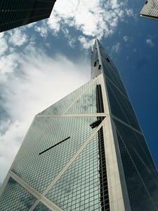 Bank of China designed by Chinese American architect I.M. Pei.