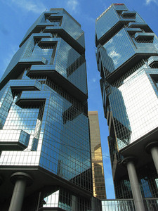 Lippo Center, designed by John Portman.