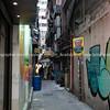 Typically Asian city back alleyway, Kowloon, Hong Kong