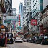 Street scene typically Asian in Hong Kong