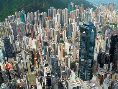 Hong Kong city view.