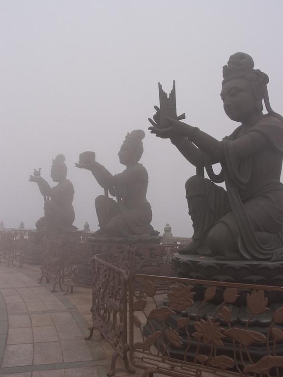 Buddah in the mist