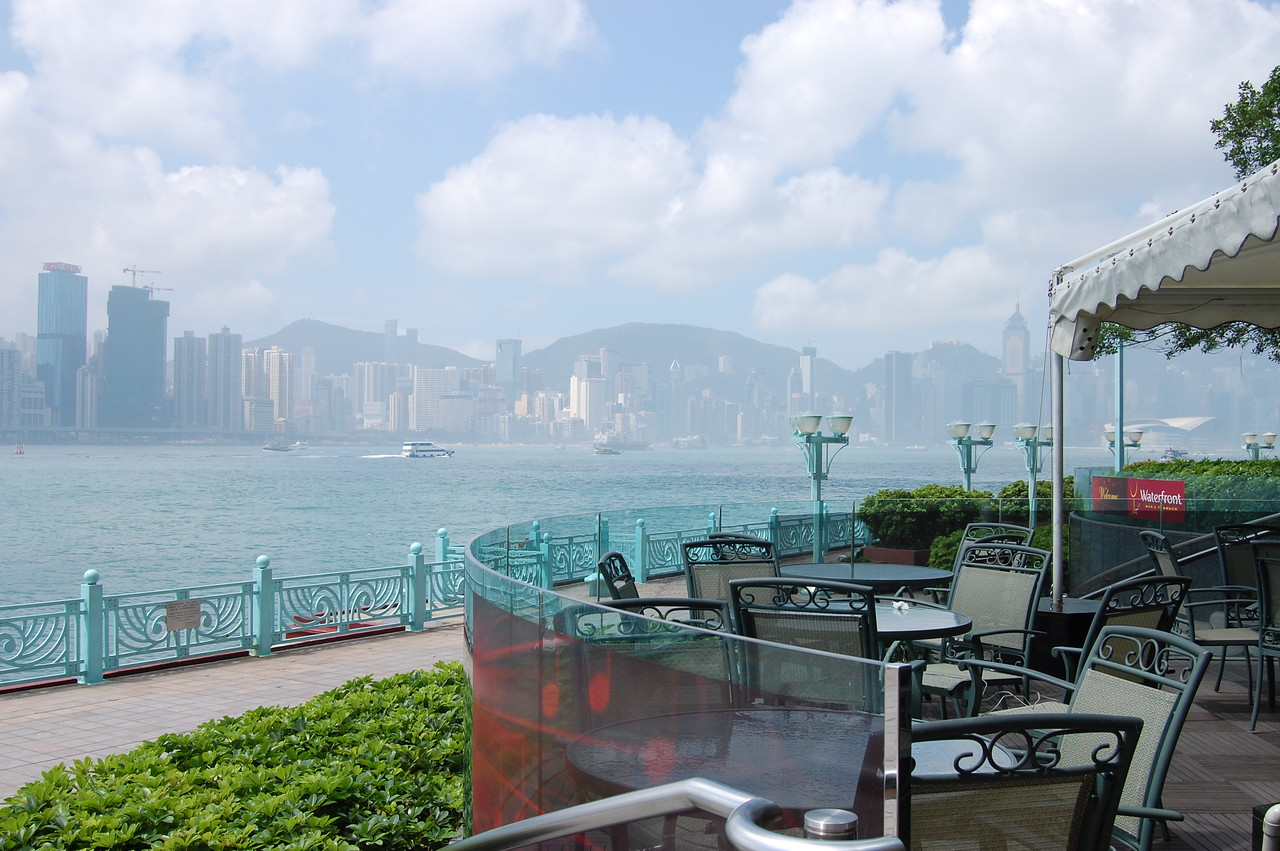 Looking across the harbour to HK from our hotel in Kowloon