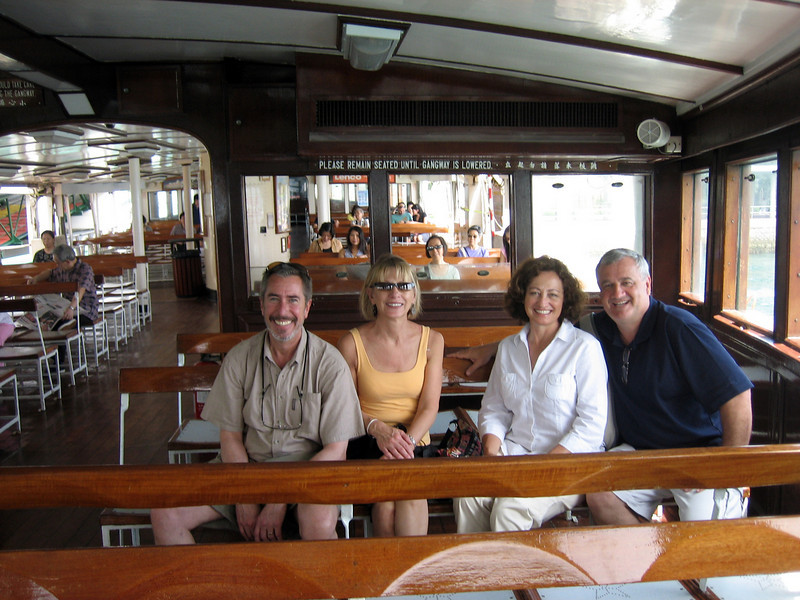 The Bairds & The Blacks on the move again --- aboard the Star Ferry in Hong Kong!