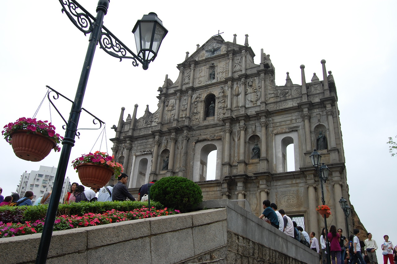 Ferried to Macau on the 2nd day of our 3 day trip.  The old town was fascinating with the Portugese landmarks.  This is the Facade of the Ruinas de Sao Paulo