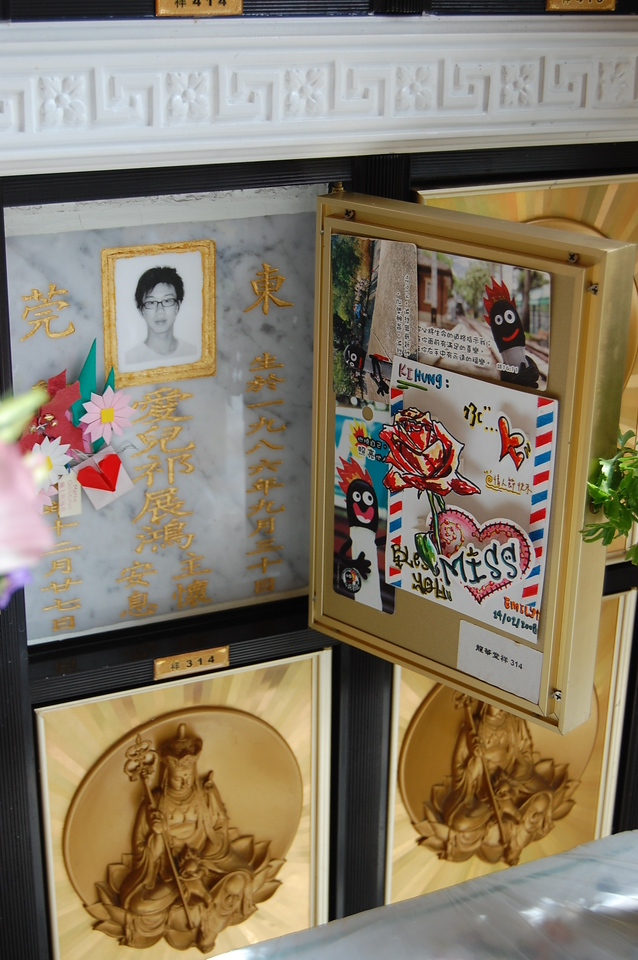 So sad to see a child's picture in the mausoleum