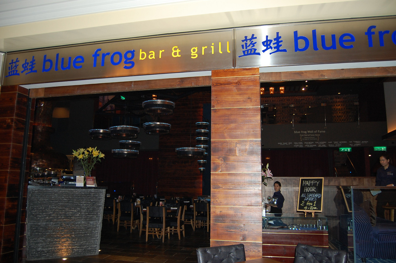 Our favorite Shanghai western restaurant with a branch in the Venetian Hotel Macau.  Ran into several servers we knew from Shanghai. Blue Frog enterprises (5 in SHA, 1 in Beijing and the Macau shop) are owned by a guy from Montana!!! Met him once -- an amazing story.