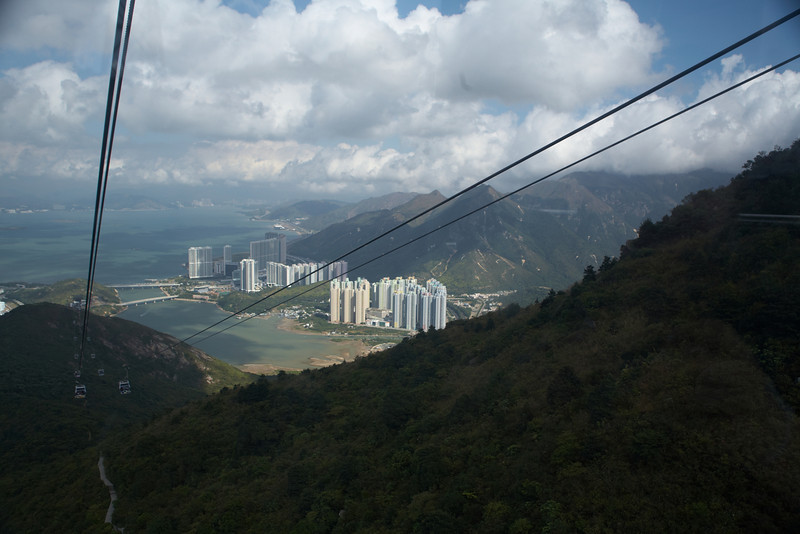 Another view from the Ngong Ping cable car.