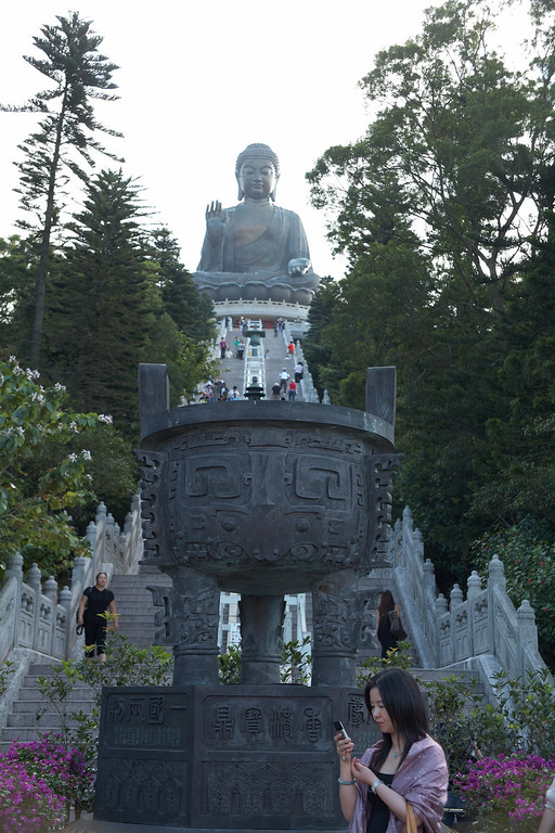 The base of the 268 steps up to the Tian Tan Buddha.