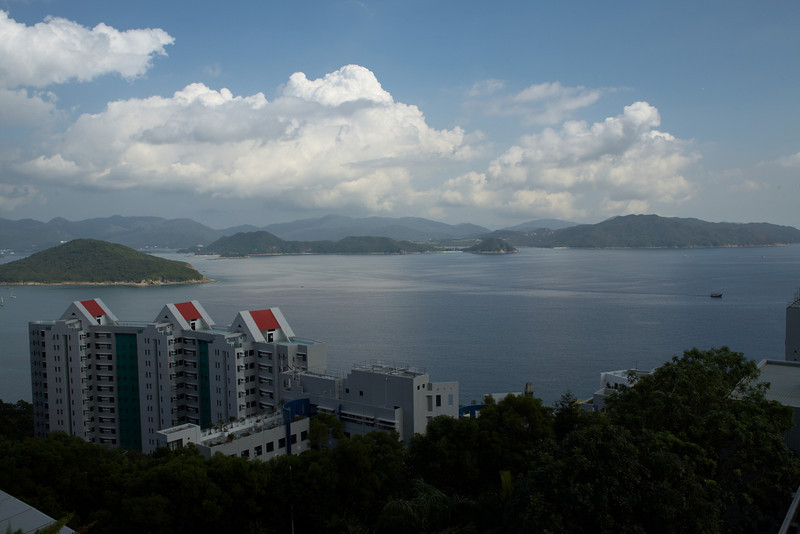 A view from one of buildings on the campus of HKUST.