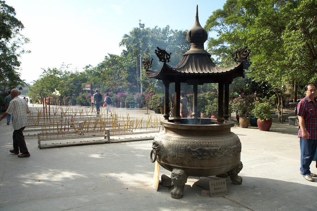 Incense is very common at the Buddhist shrines and temples.