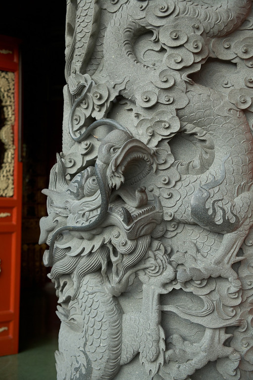 This is a close up of one of the pillars.