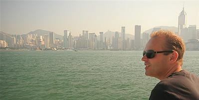 Hongkong Skyline met mijn nieuwe bril.
