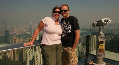Samen op The Peak. Hongkong.