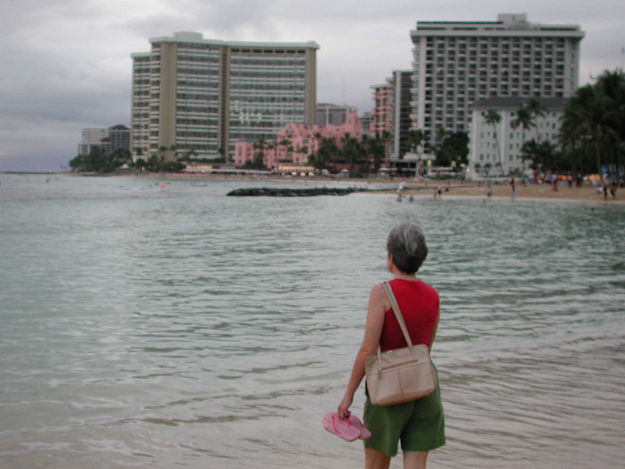 One of the hotels (pink in the background) reminded us a little of South Beach.