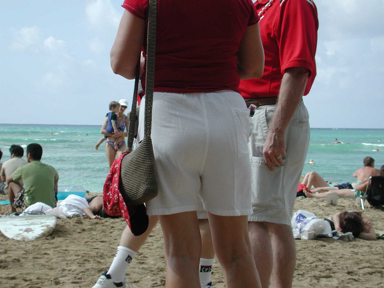 And you could spot the Wisconsiners where ever they were. But especially on the beach.