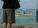 Tourists pay to paddle themselves out. :-)
