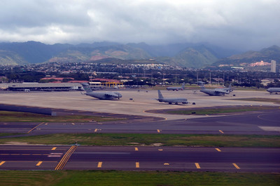 Huge Transports for USAF at Hickam Field