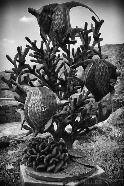Moorish Fish Statue - Hanauma Bay Nature Preserve - Oahu, Hawaii