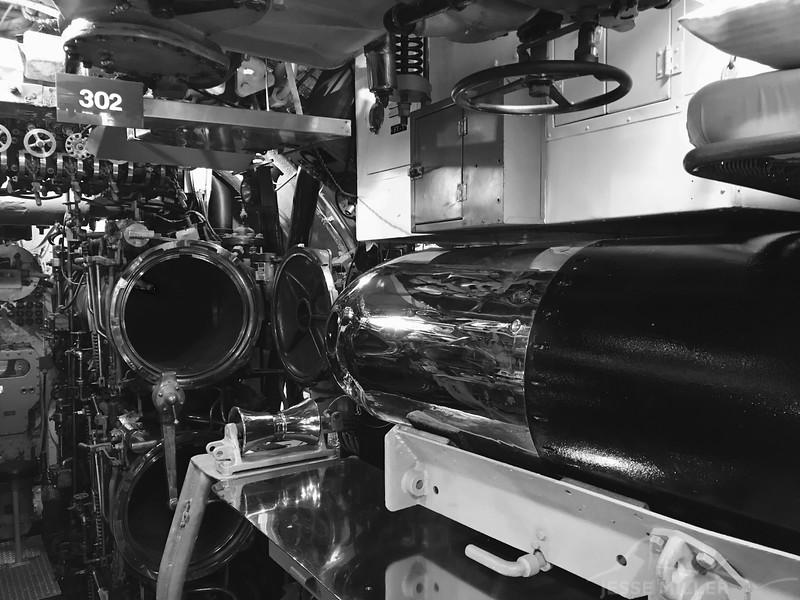 Torpedos in Submarine at Pearl Harbor