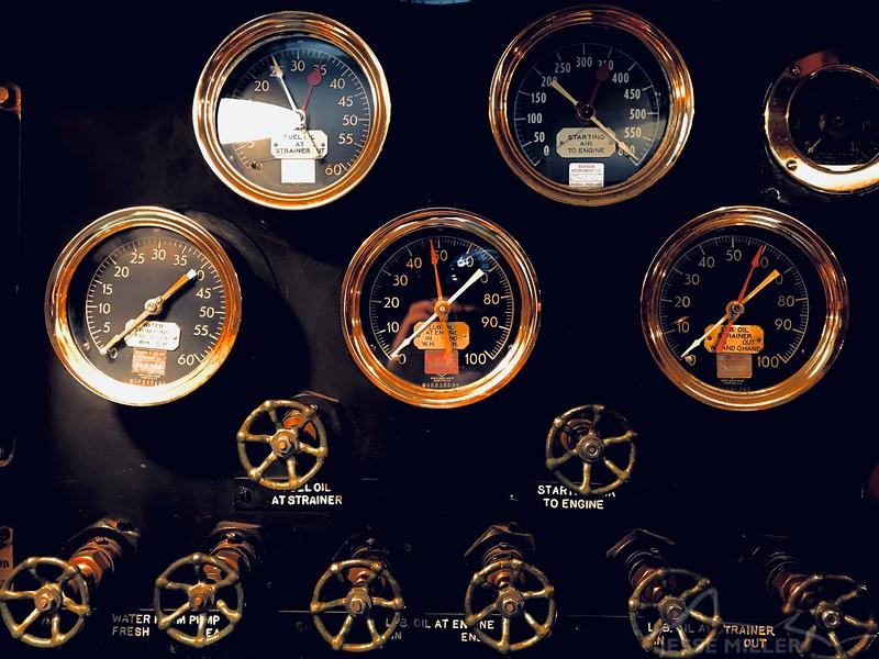 Controls in Submarine at Pearl Harbor