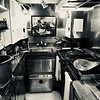 Kitchen in Submarine at Pearl Harbor