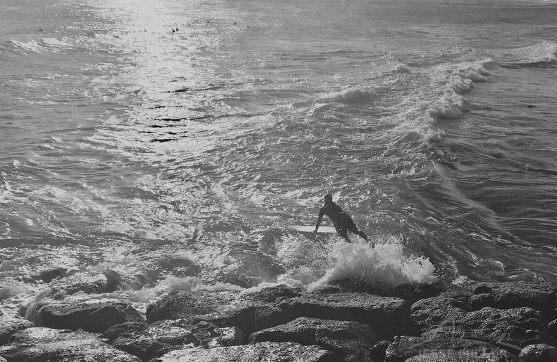 Surfer in Oahu Hawaii