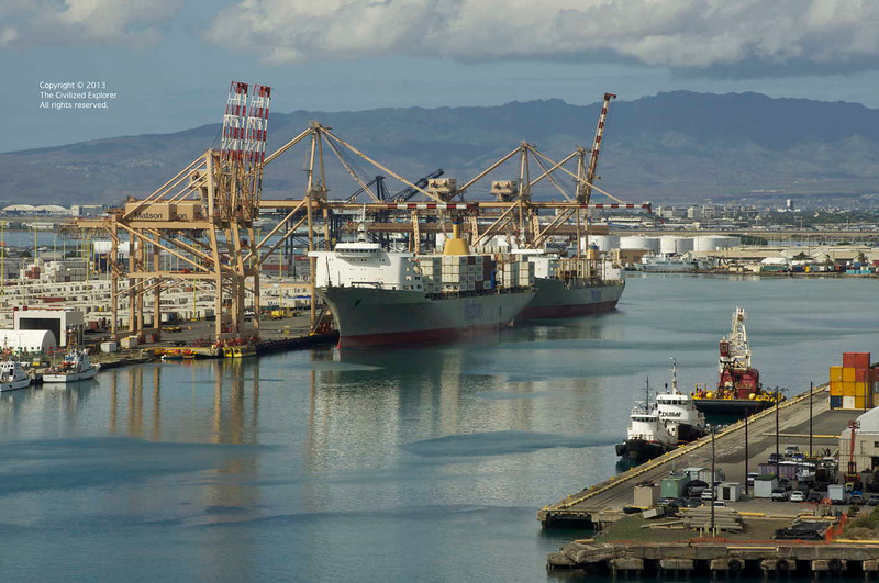 The Port of Honolulu.