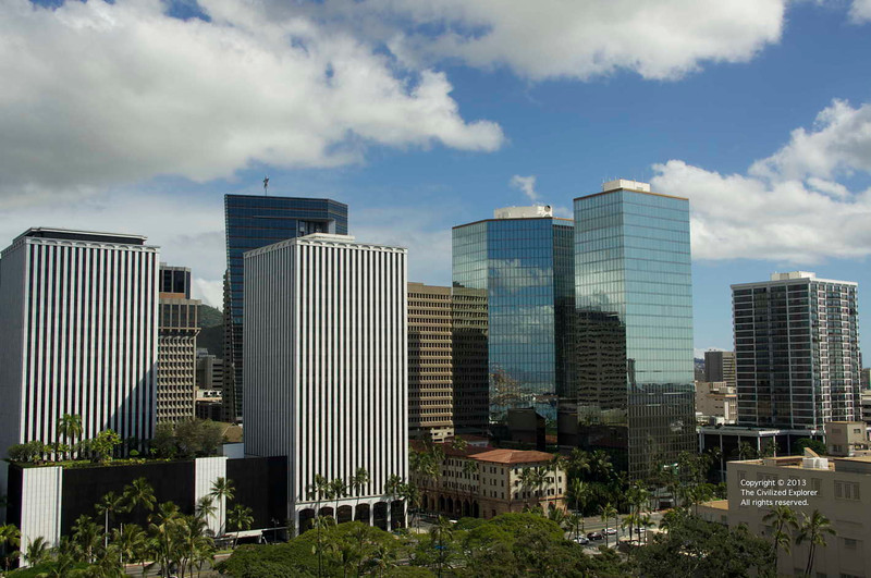 Office and residential towers in downtown Honolulu