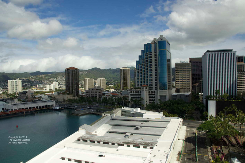 Office and residential towers in downtown Honolulu.