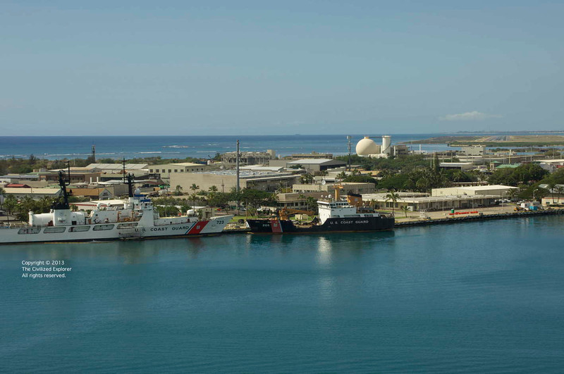 The US Coast Guard uses the Port of Honolulu.
