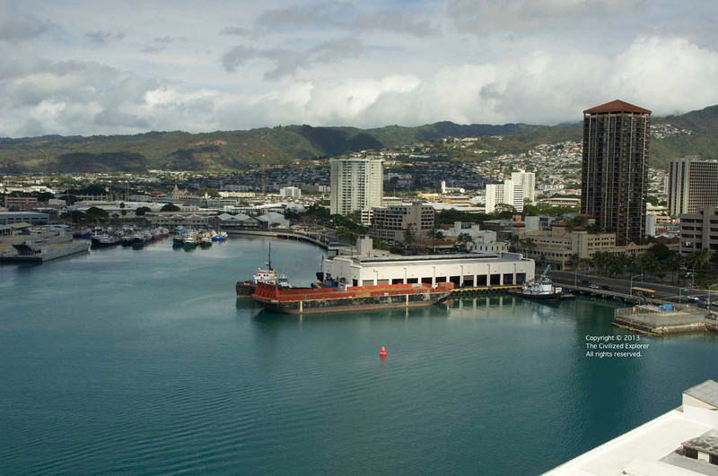 A view of the port of Honolulu