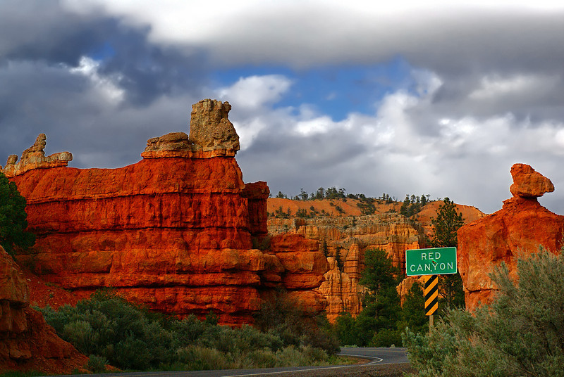 The appropriately named Red Canyon - on the way to Bryce Canyon national park.