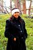 Karishma enjoys the snow flurries.