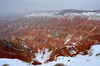 Cedar Breaks national monument.<br /> The low clouds looked ominous even as we reached there, and it started snowing right after.