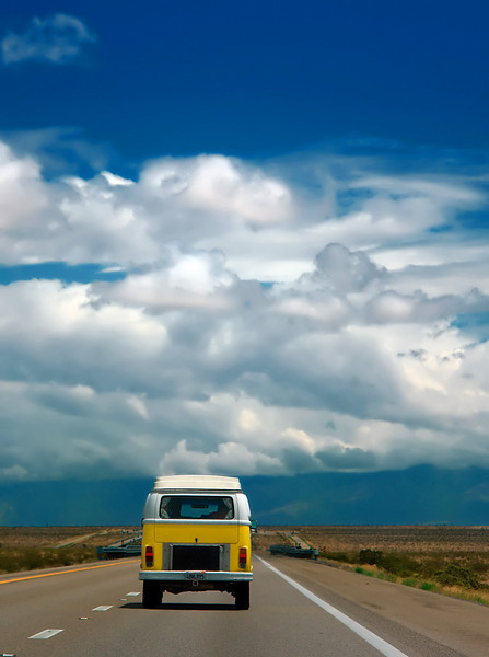 On the way to Bryce from Las Vegas, we couldn't help but marvel at the color contrast this old VW bus provided.