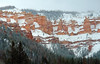 The way to Cedar Breaks national monument was awe inspiring with snow flurries following us all along the way.