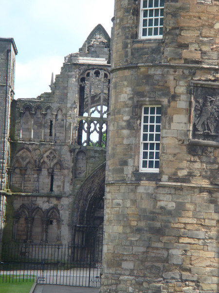 The remains of Holyrood Abbey