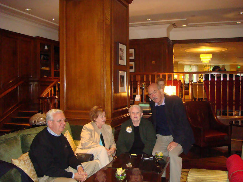 In Grosvener Hotel lobby bar London