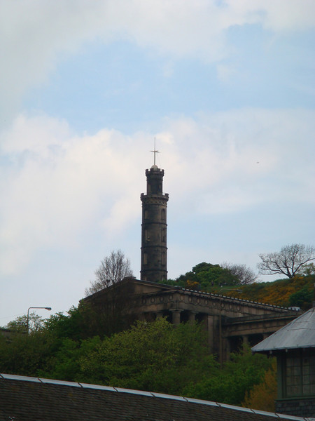 Nelson's Monument on top of Calton Hill (the 1:00 signal tower)