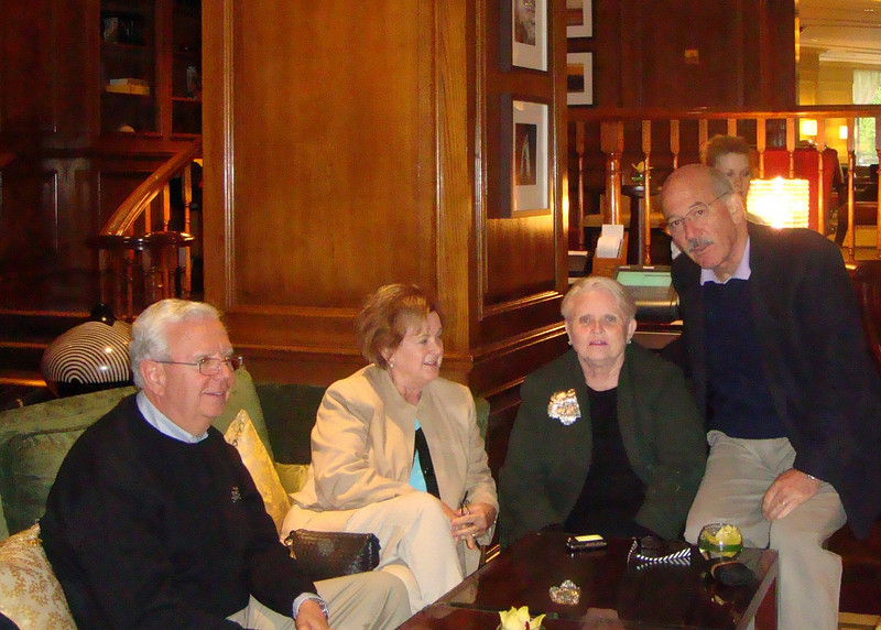 In Grosvener Hotel lobby bar London