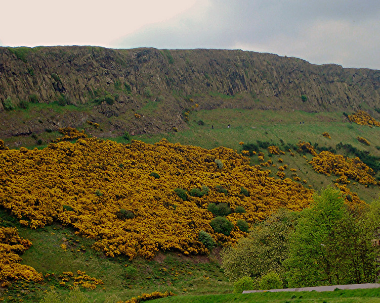 Arthur's Seat <br /> Outside the Holyrood palace in Edinburgh