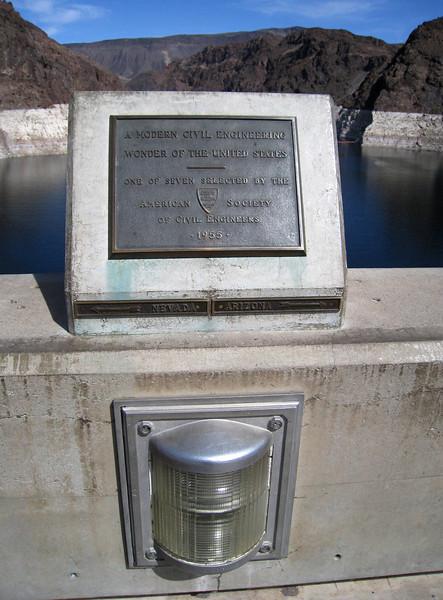 Arizona and Nevada border by the hoover dam