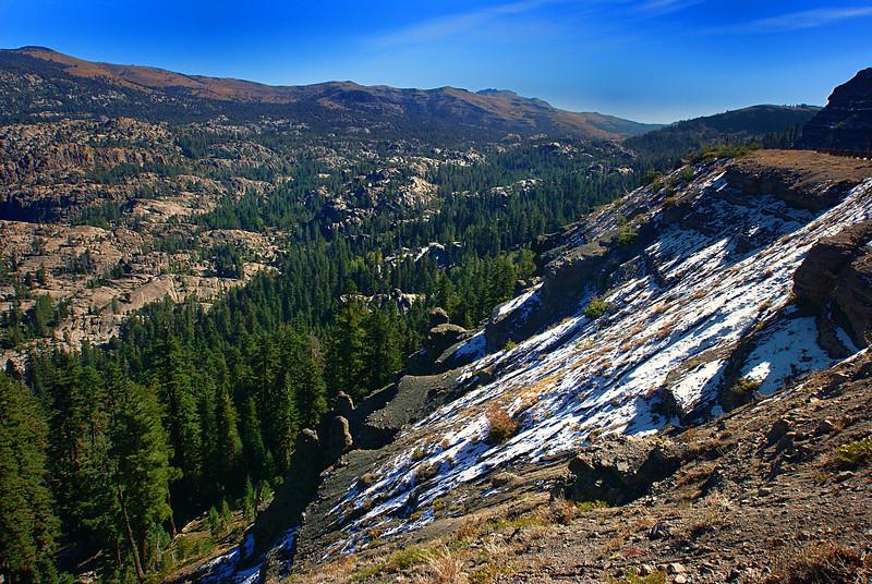 Carson Pass in Sierra Nevadas - still carries a bit of snow