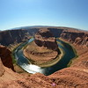 Horse Shoe Bend - Near Page Arizona. Image taken with an 8mm Fish-eye lens on the edge of a 1,000 feet drop cliff.