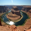 Horse Shoe Bend - Near Page Arizona. Image captures from the edge of a 1,000 feet drop cliff.